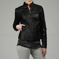 Black Rivet Women's Zip-front Moto Jacket
