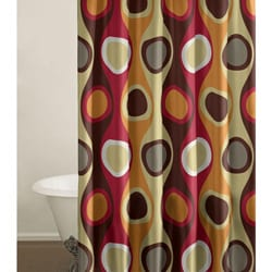 Retro Radar Red Shower Curtain