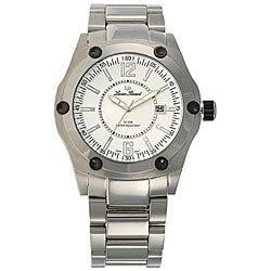Lucien Piccard Men's White Dial Stainless Steel Watch