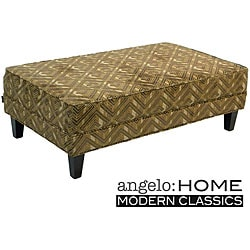 angelo:HOME Pecan Brown Cocktail Ottoman.