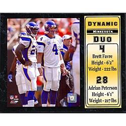 Minnesota Vikings 'Dynamic Duo' 12x15-inch Plaque 6223268