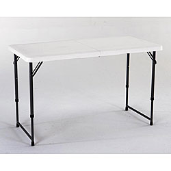 Lifetime 4-foot Adjustable Height Fold-in-half Table