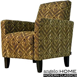 angelo:HOME Hepburn Pecan Brown Arm Chair.