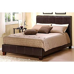 Russell Dark Brown Bi-cast Faux Leather Queen-size Bed