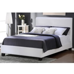Tuscany Villa White Upholstered Queen-size Bed