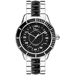 Christian Dior Unisex Women's Christal Black Sapphire Watch