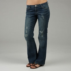 Les Halles Women's Boot Cut Denim Jeans