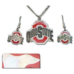 Ohio State Buckeyes Earring and Necklace Set 6378236