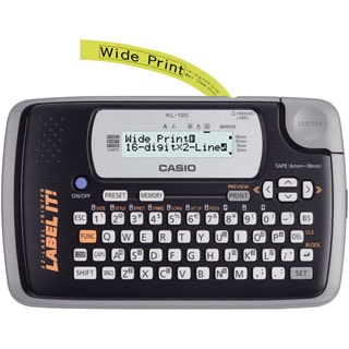 16-Digit LCD Display Label Printer