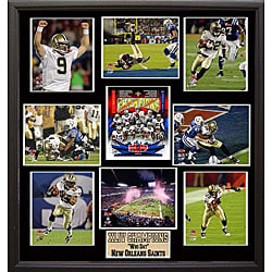 Super Bowl XLIV Champion New Orleans Saints 9-photo Plaque 6413230