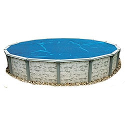 Blue Wave 28 ft. Round 8-mil Solar Blanket for Above Ground Pools - Blue