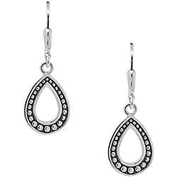Sterling Silver Beaded Teardrop Dangle Earrings