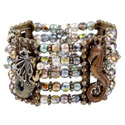 Sweet Romance Ocean Life Pearl Cuff Bracelet