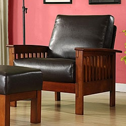 Patterson Mission Faux Bi-cast Leather Chair