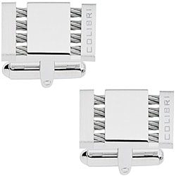 Colibri 'Shox' Stainless Steel 4-cables Cuff Links