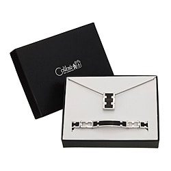 Colibri Men's 'Gridlock' Stainless Steel Bracelet and Necklace Gift Set