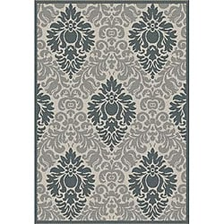 Safavieh Indoor/ Outdoor St. Barts Sand/ Grey Rug (5'3 x 7'7)