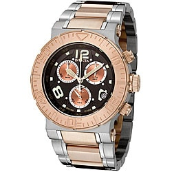 Invicta Men's 'Reserve' Two-tone Steel Black Dial Watch.