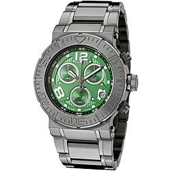 Invicta Men's 'Reserve' Gunmetal Steel Green Dial Watch.