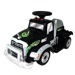 Battery Operated Black Ride-On Mack Truck