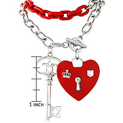 Heart Lock and Key Necklace | Overstock.com