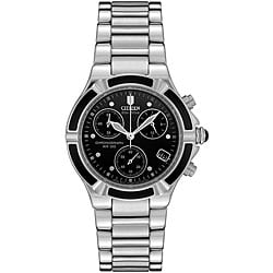 Citizen Women's Chronograph Eco-Drive Onyx Inlayed Watch.