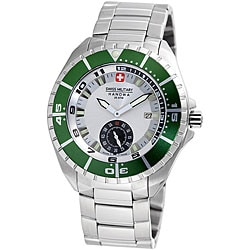 Swiss Military Hanowa Men's 'Sealander' Green Bezel Divers Watch