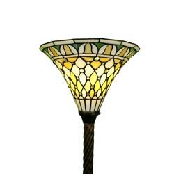 Tiffany-style 1-light Bronze Torchiere Light