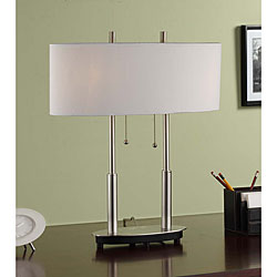 Indoor 2-light Table Lamp with Modern Metal Finish Design