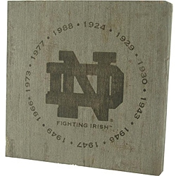 Notre Dame Fighting Irish 'National Champion Years' Bench Slab