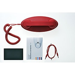 Red 'Retro Moshi Moshi' Handset with Base