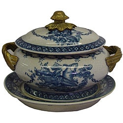 Porcelain Blue and White Tureen