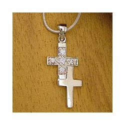 Sterling Silver 'To Each a Cross' Necklace (India)
