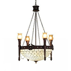8-light Mahogany Bronze 4-arm Torch Chandelier 7012034