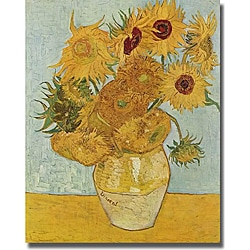 Vincent van Gogh 'Vase of Sunflowers' Unframed Canvas