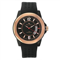Lucien Piccard Men's Black Rubber Watch