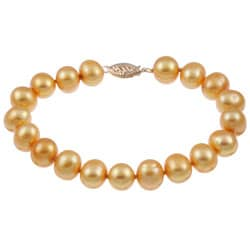 14kYellow Gold Gold Freshwater Pearl Bracelet (9-10mm)