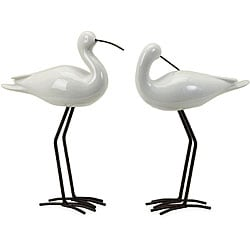 Ceramic 2-piece Coastal Birds