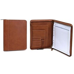 Franklin Covey Tan Zip-around Bifold Writing Pad