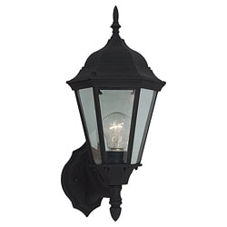 Windgate 1-light Black Outdoor Wall Lantern 7156982