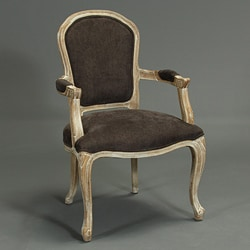 Portland Dark Grey Weathered Oak Wood Chair