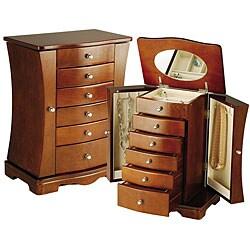 Walnut Contemporary Jewelry Box