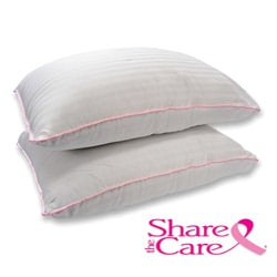 Share The Care 300 Thread Count Cotton Sateen Pillows (Set of 2)