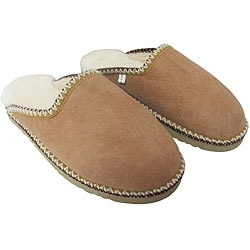 Amerileather Sand Brown Double Faced Shearling House Slippers