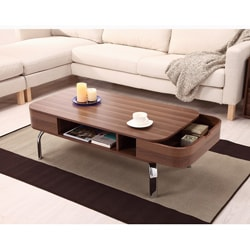 Berkley Modern Coffee Table with Removable Pocket Drawers