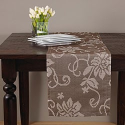 Cappuccino Floral 15x72-inch Table Runner