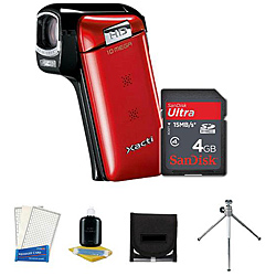 Sanyo VPC-CG10 10MP Digital Video Camera with Camera Accessories Kit