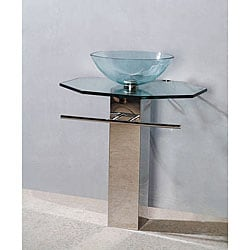 Draco Modern Glass Bathroom Vanity