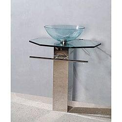 Draco Modern Glass Bathroom Vanity