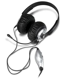 Gaming Headset For Adjustable Game Audio And Voice Chat For PS3